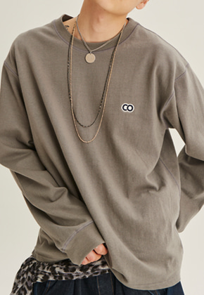 Choisi쵸이지 C.O Basic Long Sleeve, Charcoal