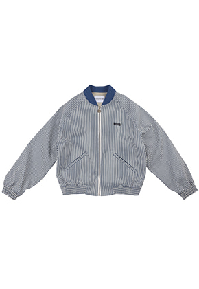 AJO BY AJO FINK LABEL Stripe Bomber Jacket [Blue]