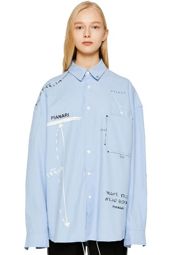PIANARI피어나리 Math Symbol Shirt (blue)