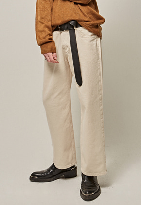 Yan13얀써틴 COTTON NEW WIDE PANTS_CREAM