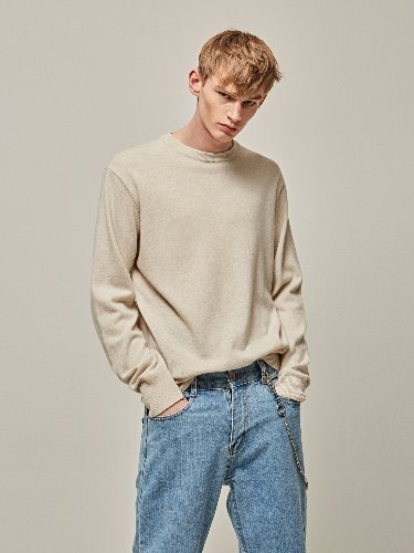 Yan13얀써틴 WOOL REGULAR KNIT_CREAM