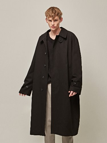 Yan13얀써틴 SUPER OVER SIZE MAC COAT_BLACK