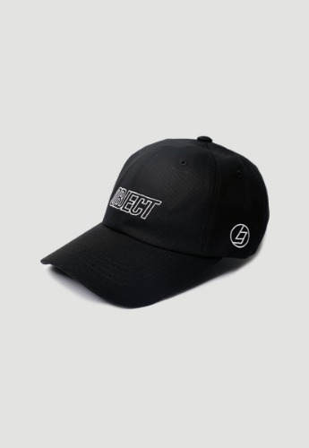 Object오브젝트 OBJECT LOGO CAP (BLACK_WHITE)