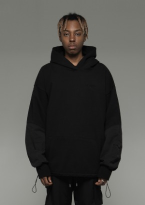 De-Nage드네이지 Heavy Armor Washing Hoodies Black