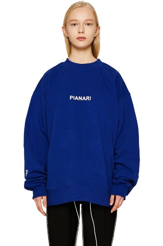 PIANARI피어나리 PIANARI logo Sweat Shirt (blue)