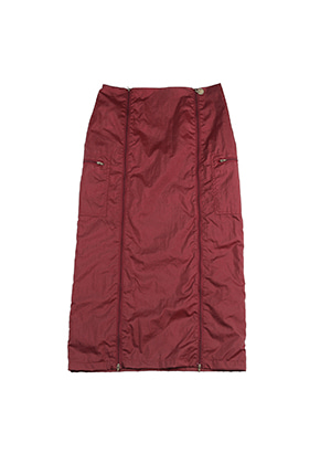 AJO BY AJO FINK LABEL Track Zip Up Skirt [Wine]