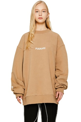 PIANARI피어나리 PIANARI logo Sweat Shirt (beige)