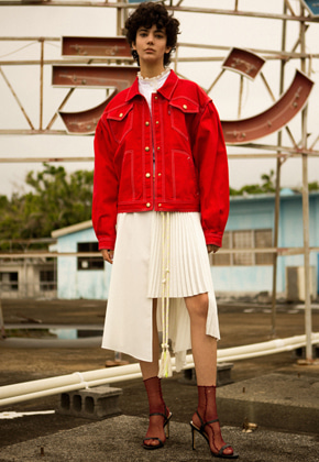 Anderssonbell앤더슨벨 ALICE PUFF SLEEVE CROPPED JACKET awa243w RED