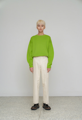 STU에스티유 Overfit knit avocado green
