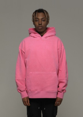 De-Nage드네이지 Heavy Armor Washing Hoodies Pink