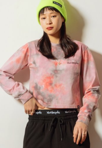 Markgonzales마크곤잘레스 WOMENS LONG SLEEVE CROP TEE PINK