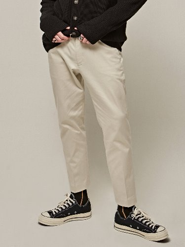 Yan13얀써틴 NEW CROP COTTON PANTS_CREAM