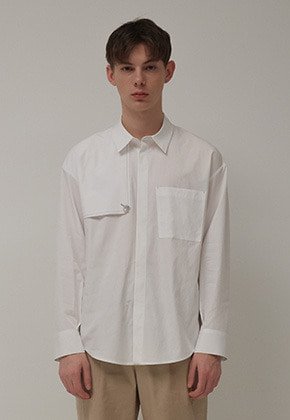 Muguet뮤게 TRENCH SHIRTS (WHITE