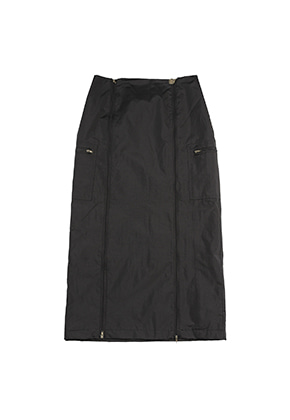 AJO BY AJO FINK LABEL Track Zip Up Skirt [Black]