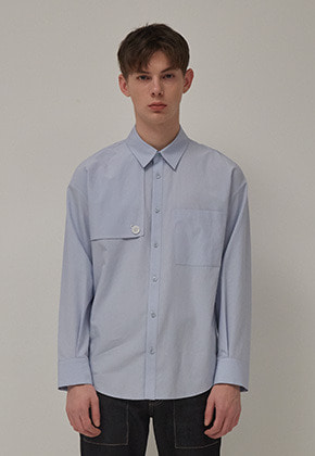 Muguet뮤게 TRENCH SHIRTS (SKY BLUE)
