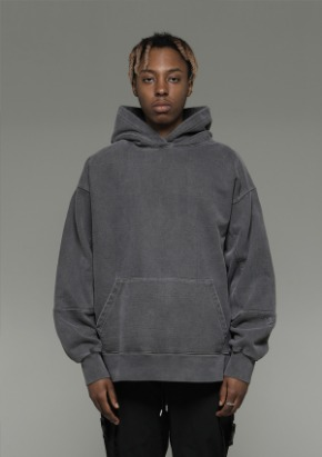 De-Nage드네이지 Heavy Armor Washing Hoodies Grey