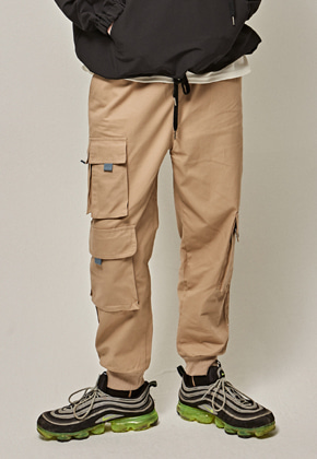 Yan13얀써틴 COTTON BANDING CARGO PANTS_BEIGE