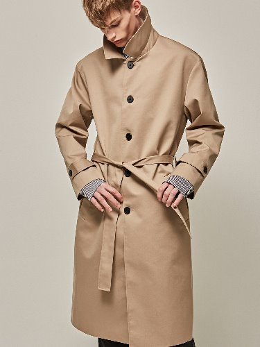 Yan13얀써틴 MINIMAL SINGLE TRENCH COAT_BEIGE