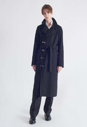 Aram아람 아람 ARAM 2019 SPRING COAT#7 FIREMAN TRENCH-COAT BLACK TWILL