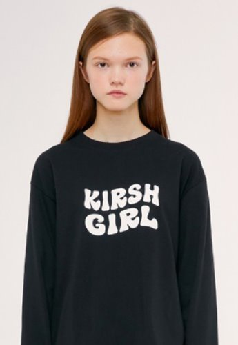 KIRSH키르시 KIRSH GIRL LOGO TEE IS [BLACK]