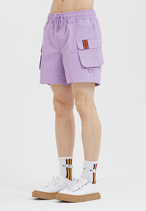 Romantic Crown로맨틱크라운 E.D.V Cargo Short Pants_Purple