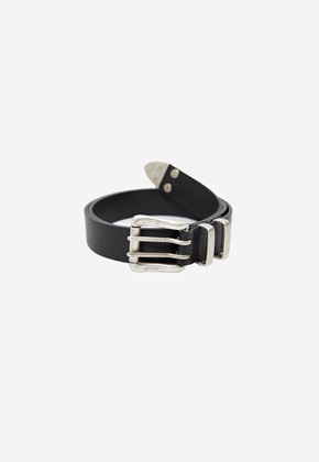 Anderssonbell앤더슨벨 ANTIQUE BUCKLE LEATHER BELT aaa206m BLACK