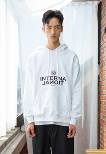 XYZ UNISEX 'INTERNATIONAL' HOODY - WHITE