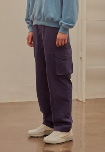 INNER CITY AUDIO이너시티오디오 (FAMILY EVENT) COTTON CARGO PANTS NAVY