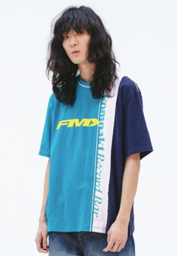 FROMMARK프롬마크 FMK x KOMPACKT MULTI MIXED CUT T-SHIRT 2  EMERALD GREEN