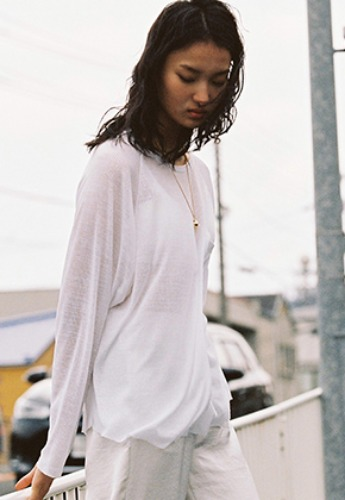 Vuiel뷔엘 BASIC LONG SLEEVE JUMPER _ WHITE