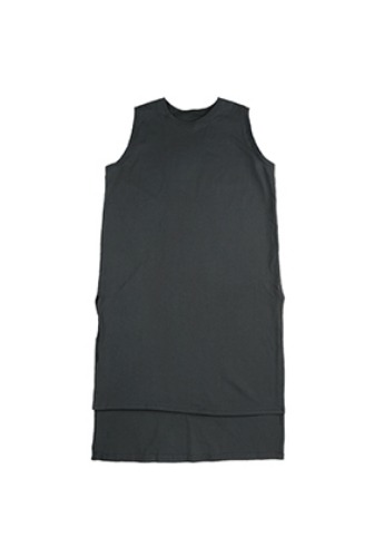 AJO BY AJO아조바이아조 Unbalance Long Sleeveless [Charcoal]