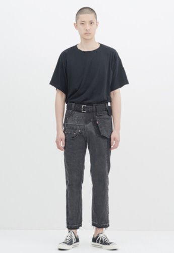 Gakuro가쿠로 Denim Pants (Assorted Black)