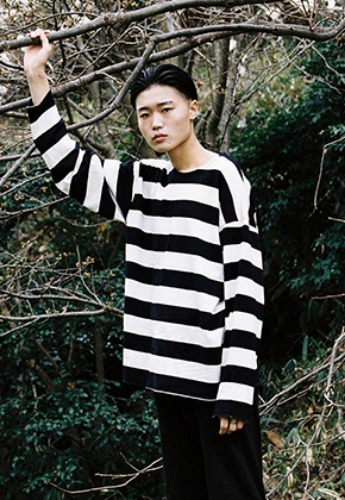 Vuiel뷔엘 STRIPED LONG SLEEVE JUMPER _ WHITE