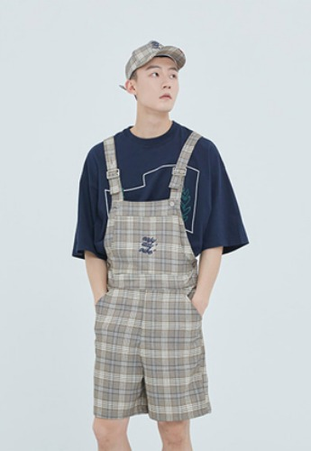 Romantic Crown로맨틱크라운 E.D.V Check Overall_Grey