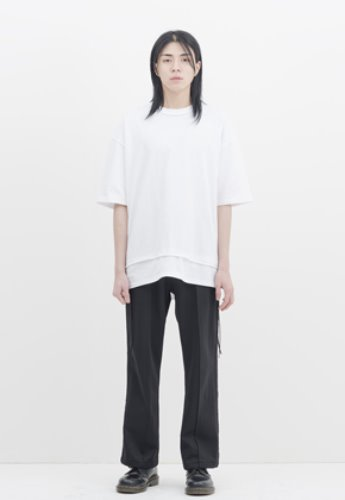 Gakuro가쿠로 Reversible H/S T-Shirt (White)