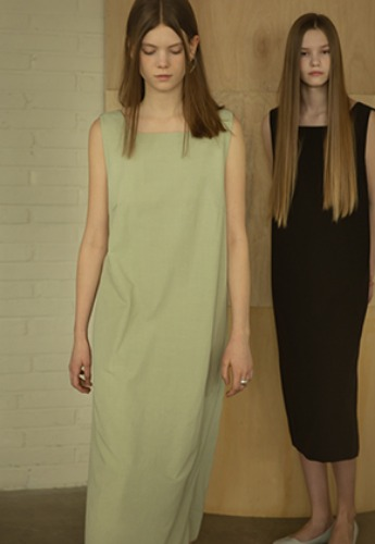 More or Less모어올레스 STRAP DETAIL DRESS - LIGHT GREEN