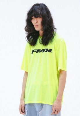 FROMMARK프롬마크 [FMK] FMK LOGO T-SHIRT  YELLOW NEON