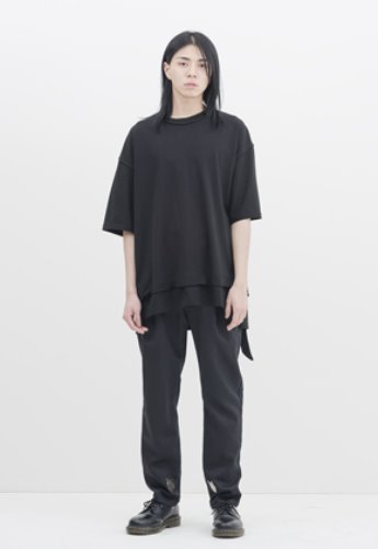 Gakuro가쿠로 Reversible H/S T-Shirt (Black)