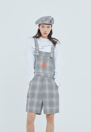 Romantic Crown로맨틱크라운 E.D.V Check Overall_Black