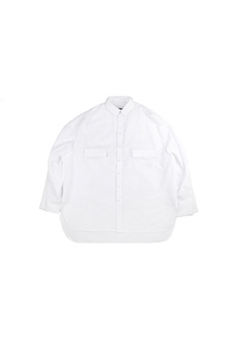 AJO BY AJO아조바이아조 Plain Seersucker Shirt [White]