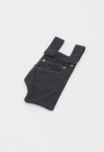 Gakuro가쿠로 Denim Pocket Pouch Type 2 (Black)