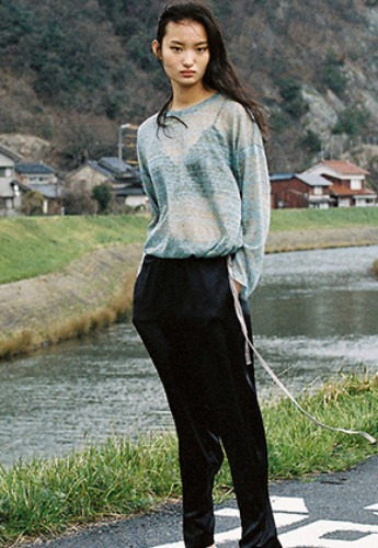 Vuiel뷔엘 STRINGED LONG SLEEVE JUMPER _ BLUE