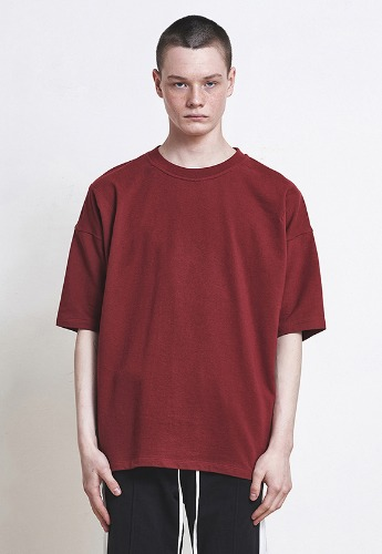 D.prique디프리크 [박서준 착용] Oversized Basic T-shirt Red