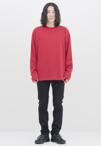 Gakuro가쿠로 Reversible L/S T-shirt (Red Stripe)