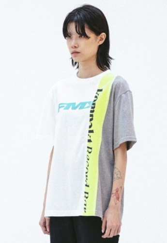 FROMMARK프롬마크 FMK x KOMPACKT MULTI MIXED CUT T-SHIRT 2  WHITE