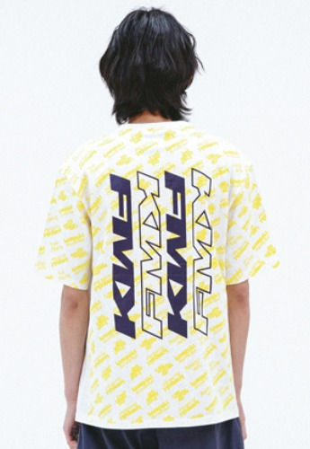 FROMMARK프롬마크 FMK x KOMPACKT ALLOVER PRINTED T-SHIRT  WHITE
