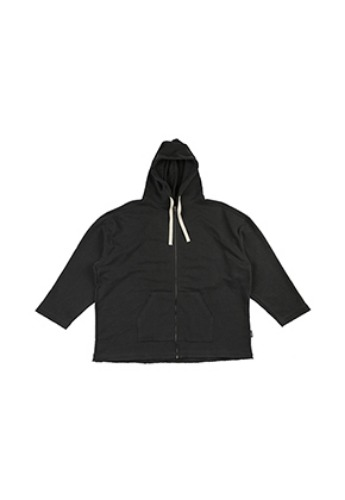 AJO BY AJO아조바이아조 Oversized Pigment Bio Washed Hoodie [Charcoal]