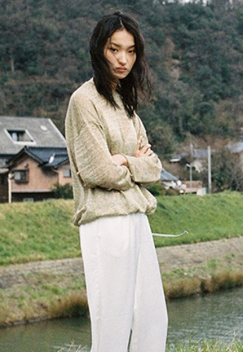 Vuiel뷔엘 STRINGED LONG SLEEVE JUMPER _ YELLOW