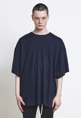 D.prique디프리크 [박서준 착용] Oversized T-shirt Navy