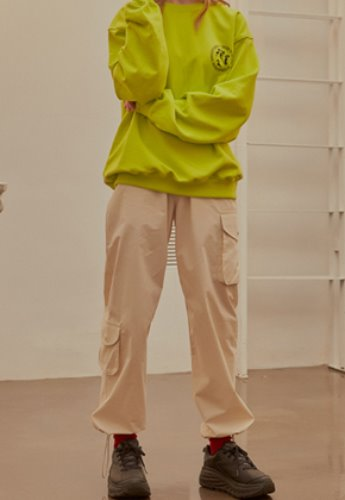 INNER CITY AUDIO이너시티오디오 (FAMILY EVENT) COTTON CARGO PANTS IVORY